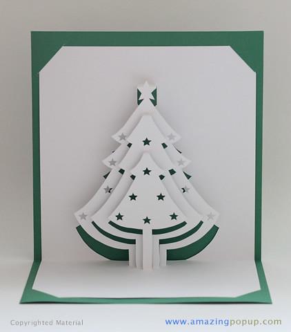 3d Christmas Tree Cards