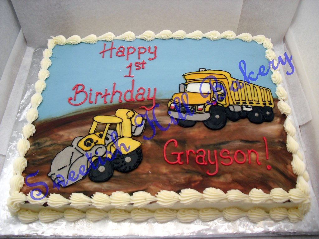 Dump Truck Birthday Cake Custom Decor On A 12 Sheet Cake Flickr