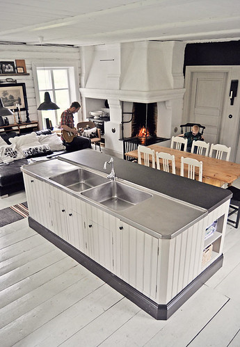 Lunda Gard / Aja and Christian Lund {gray and white eclectic rustic vintage modern kitchen} | by recent settlers