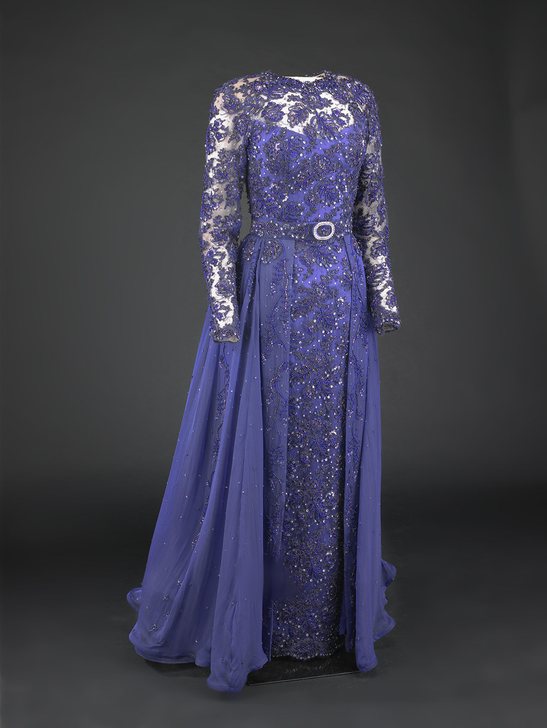 Hillary Clinton\'s 1993 Inaugural Gown | Violet beaded lace s… | Flickr