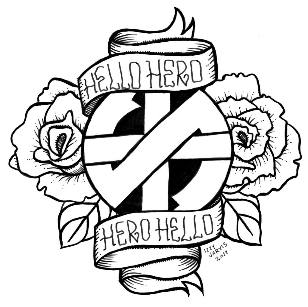 hello hero hero hello tattoo design pen and ink 2011 flickr. Black Bedroom Furniture Sets. Home Design Ideas