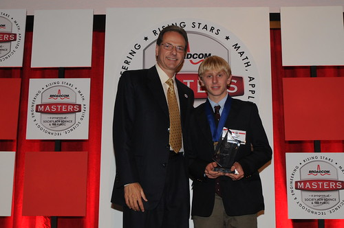 Top Winner Daniel Feeny with Broadcom Co-Founder Henry Samueli | by Society for Science & the Public (SSP)
