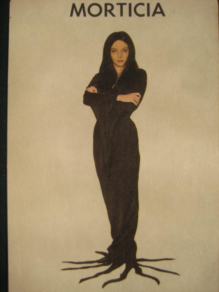 Morticia Addams Family 1965 Card Game 2750 Carolyn Jones