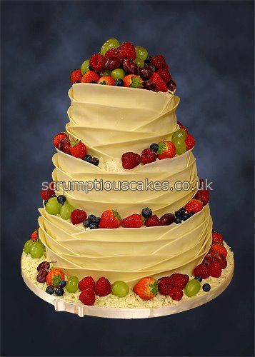 Wedding Cake 792 White Chocolate Wrap Fresh Fruit Flickr - Fresh Fruit Wedding Cake