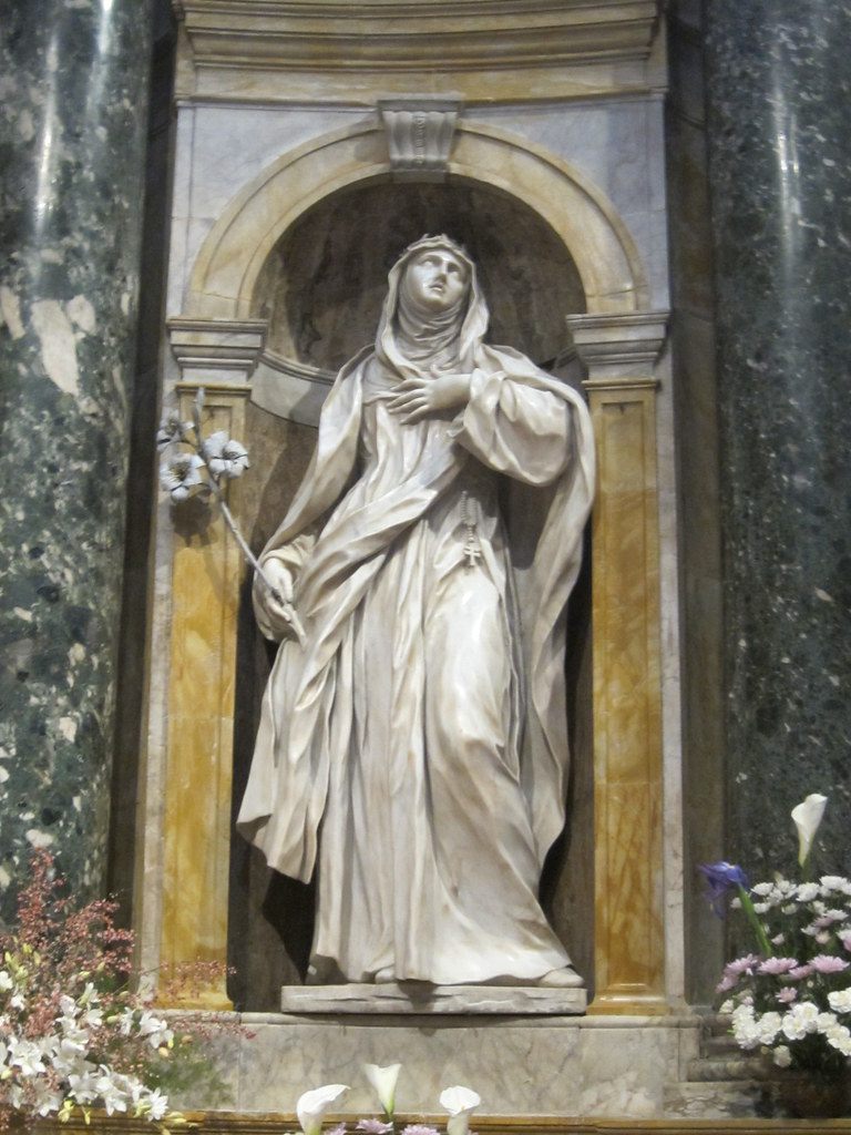 Statue Of St Catherine Of Siena In Duomo Di Siena Saint