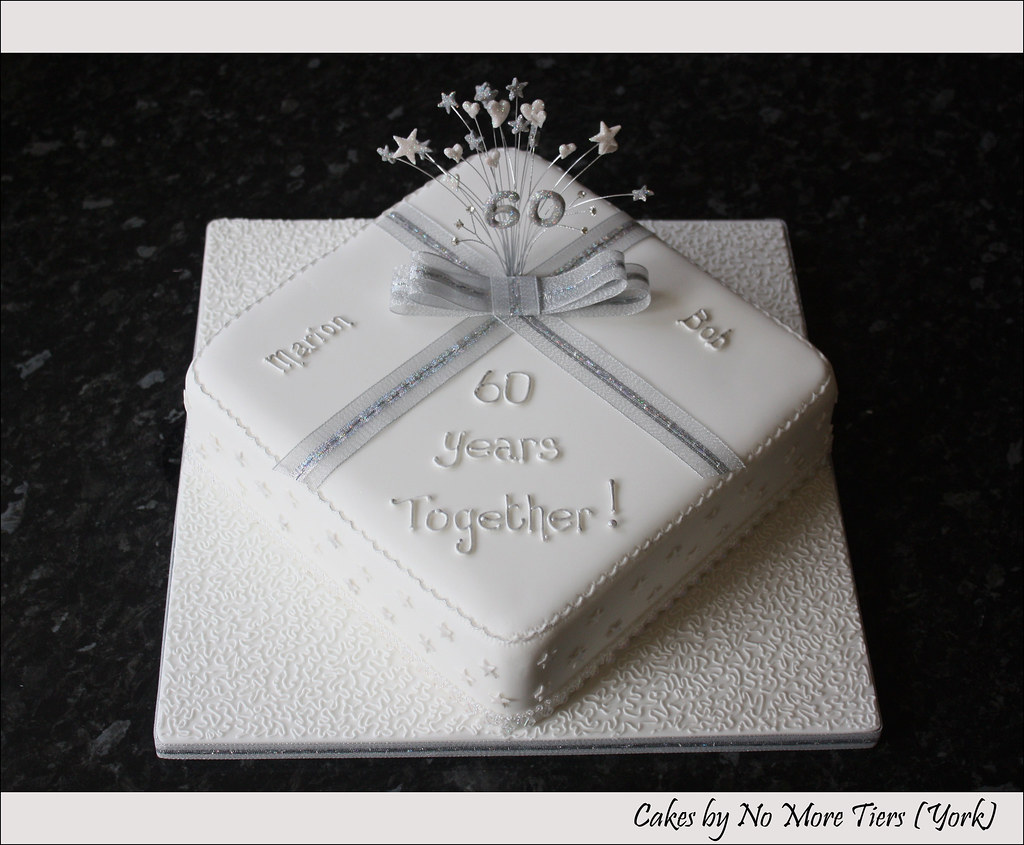 Cake Designs For Diamond Wedding : Diamond wedding cake Cake that I decorated a couple of ...