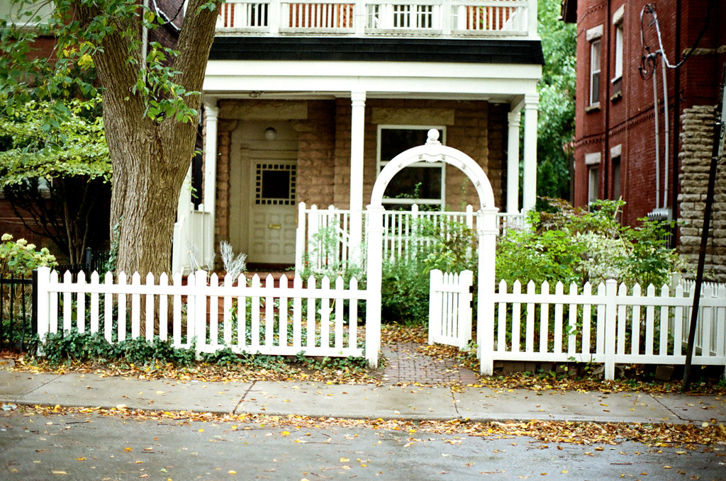 White Picket Fence | I was going to level it, but there's