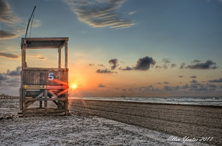 Life Guard House during Sunrise | by Ellen Yeates