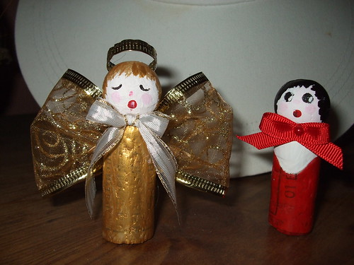 Angel and Choir Boy - Wine Cork Crafts | by This Dame Cooks