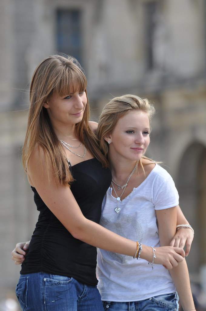 Candid girls in Paris....