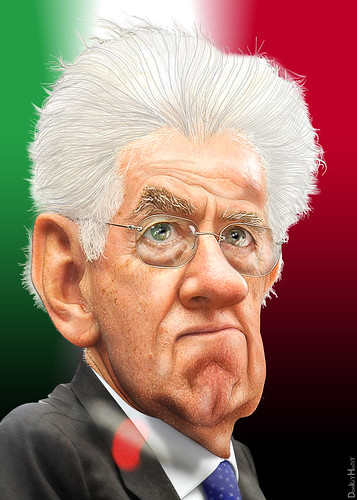 Mario Monti - Caricature | by DonkeyHotey