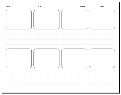 08 Frame Storyboard 11 X 8.5 In. | Storyboard Template: Pdf … | Flickr