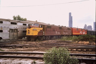 Rock Island E-7's at 16th st Jct Chicago 1975 | by Mark LLanuza