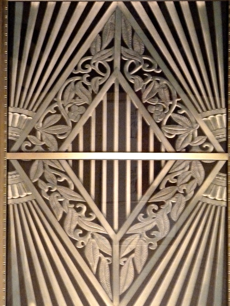 Chicago ogilvie transportation center metal art deco pan for Art deco interior and panel designs