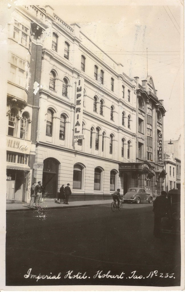 235 Imperial Hotel Hobart Tas 1940s Real Photo