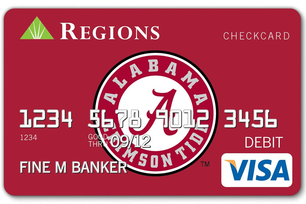 University of Alabama Regions Visa Checkcard | Carry your Ti… | Flickr