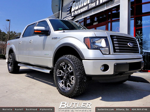 Ford F 150 With 20in Ballistic Havoc Wheels And 2in Level