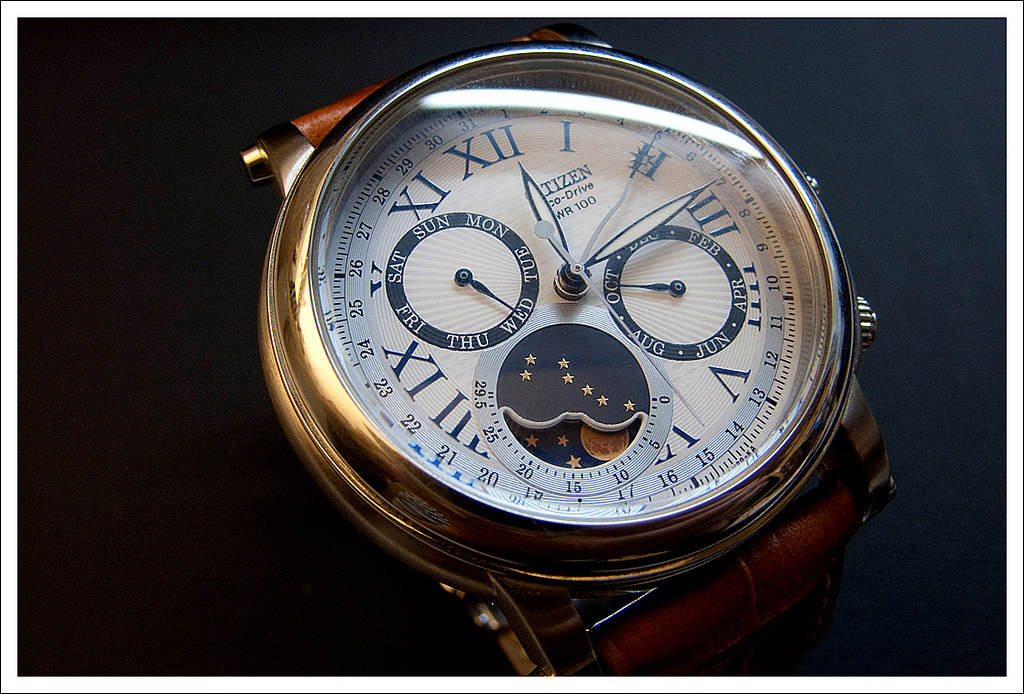 Citizen Eco Drive Moon Phase Watch Custom Please Do Not