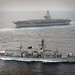 Royal Navy Type 23 Frigate HMS St Albans on Exercise with USS George W Bush