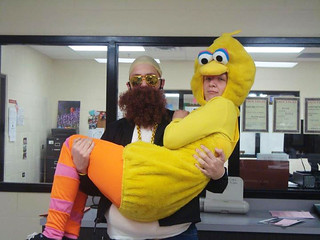 Brian as Rick Ross with Corey Payton as Big Bird | by Jeff Houck