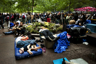 OccupyWallSt, day of canceled city cleaning | by Dan Nguyen @ New York City