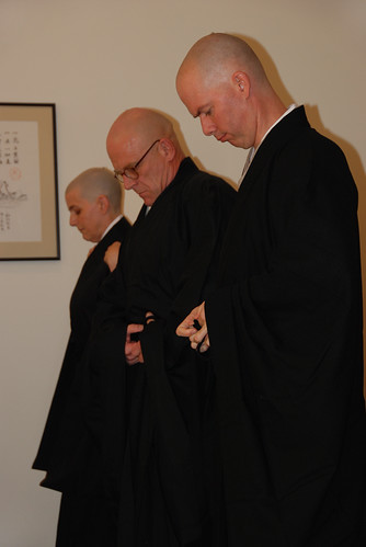 Ordination ceremony: Ordainees put on their robes | by ancientdragonzengate