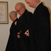 Ordination ceremony: Ordainees put on their robes