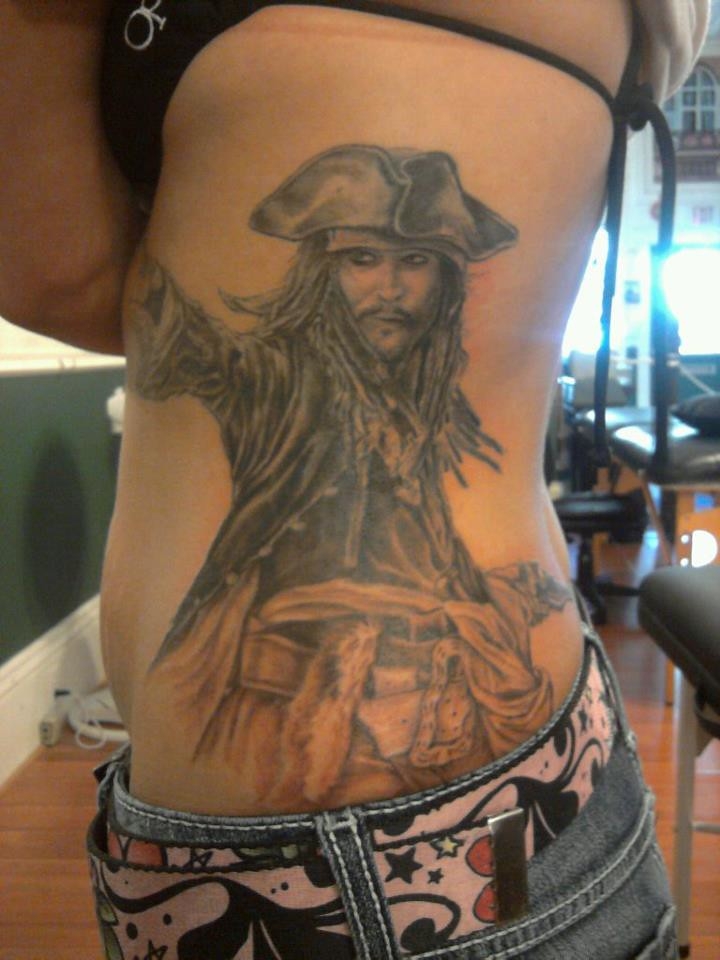 Capt jack sparrow tattoo ashmoney21 flickr for Captain jack sparrow tattoo