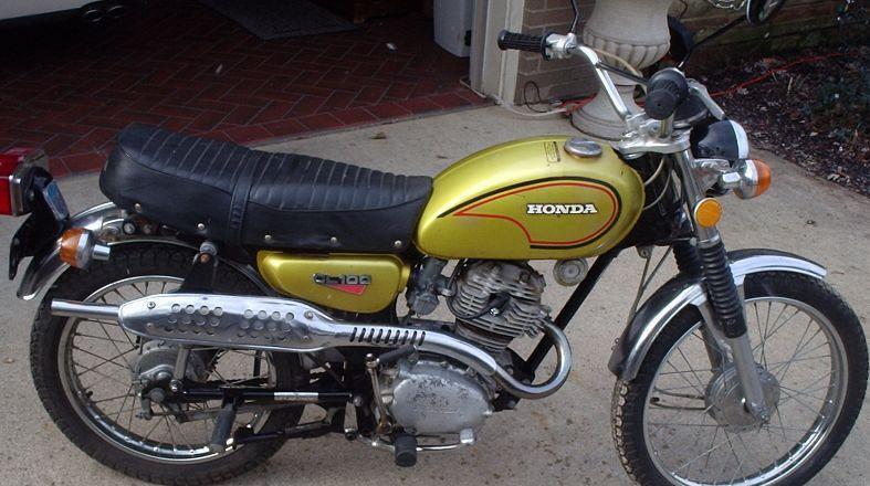 1972-Honda-CL100-Scrambler- Older picture taken, starts ea ...