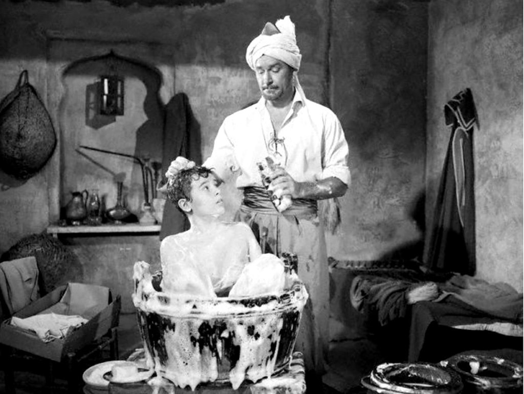 Errol Flynn Bathes Dean Stockwell In Kim 1950 John