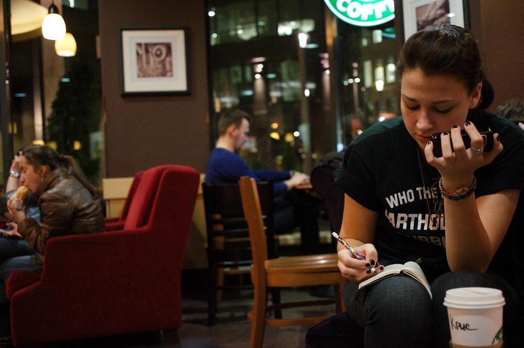People At Starbucks