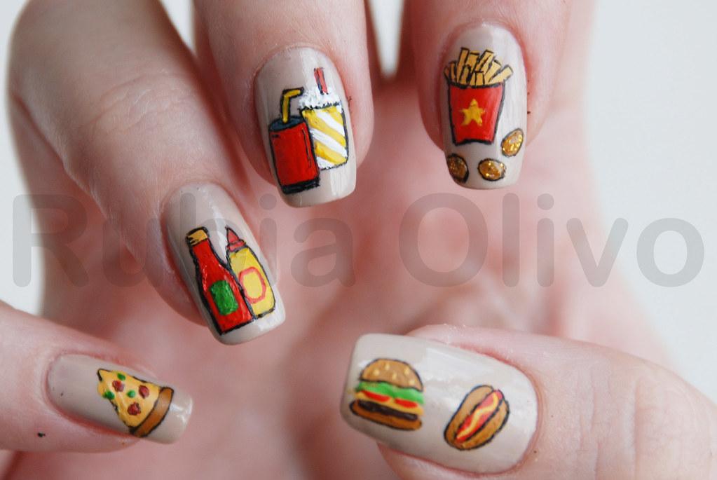 Fast Food Muitas Meninas Acertaram O Tema Dessa Nail Art L Flickr