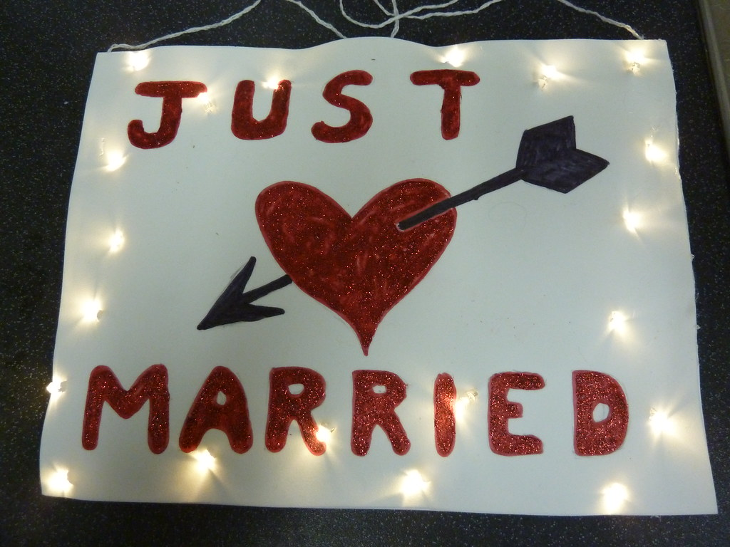 Just Married Sign Just Married Sign For Panto At The Ok