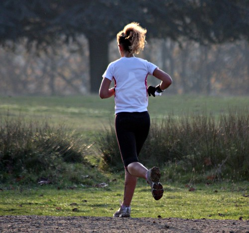 Knole House in Autumn - Nov 2011 - Candid Golden Haired Runner | by Gareth1953 All Right Now