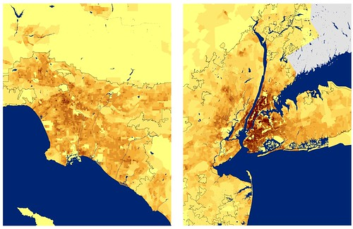 Population Density: LA vs NYC Urban Areas | by fake is the new real