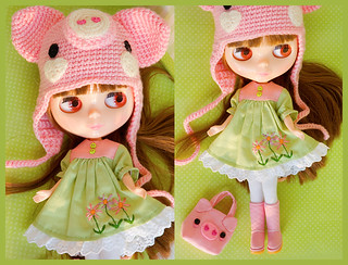 piggy hat, dress and purse set | by sugarelf