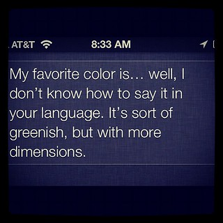 what is your favorite color, #siri? | by AndersP