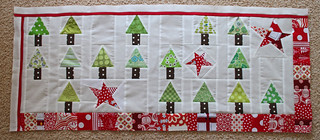 Christmas table runner top pieced... | by Flutter Kat
