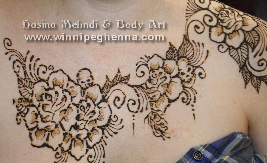 Henna Tattoo Chest: Roses Skulls Chest Tattoo Winnipeg Henna