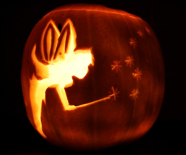 Tinkerbell pumpkin flickr photo sharing for How to carve tinkerbell in a pumpkin