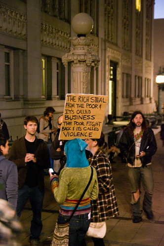 OccupyOakland: The rich steal from the poor... | by edrabbit