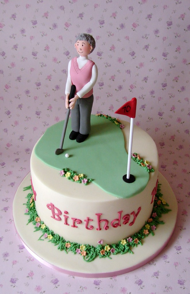 Golf Themed 70th Birthday Cake This Is A Repeat Of A
