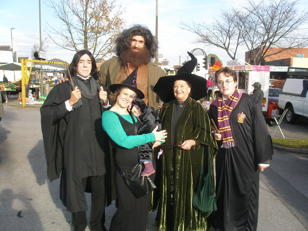 Harry Potter Haloween With Hagrid Professor Snape Profes Flickr