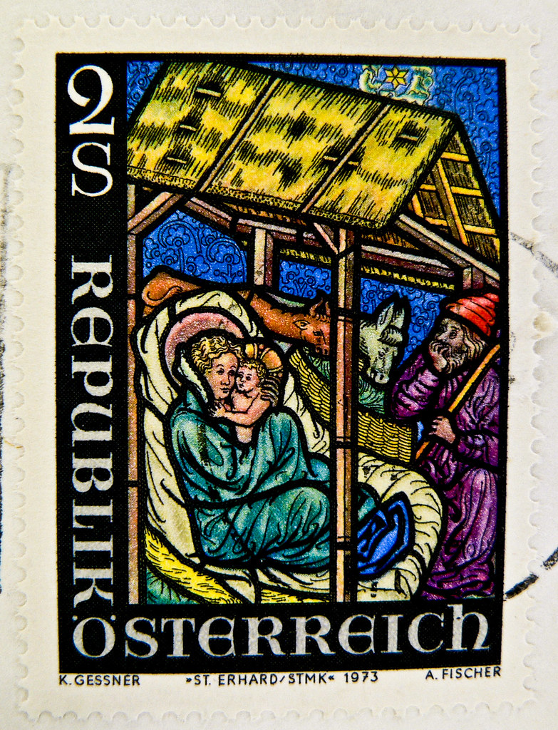 beautiful stamp Austria 2.00 S Schilling christmas crib (s… | Flickr