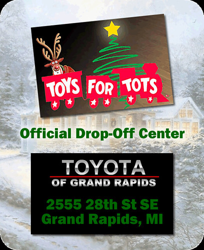 toyota of grand rapids is your toys for tots official drop flickr. Black Bedroom Furniture Sets. Home Design Ideas