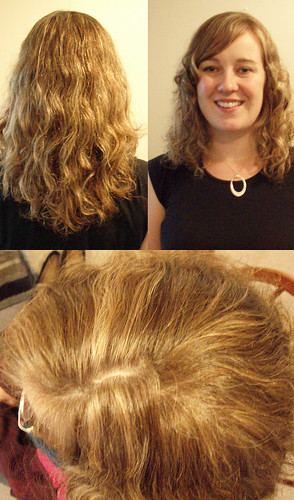 curly-haircut-natural-highlights | by vanmobilehair