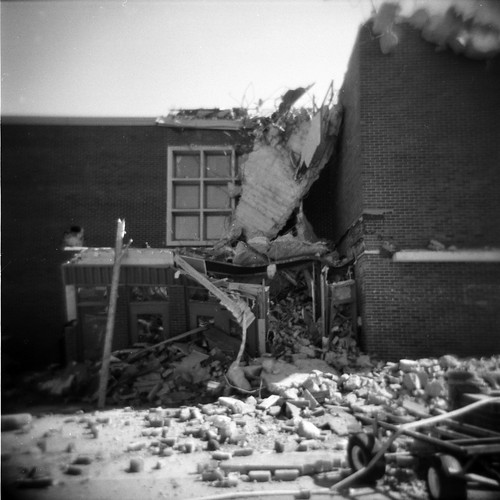 Rubble at the Old Bellevue High School | by KurtClark