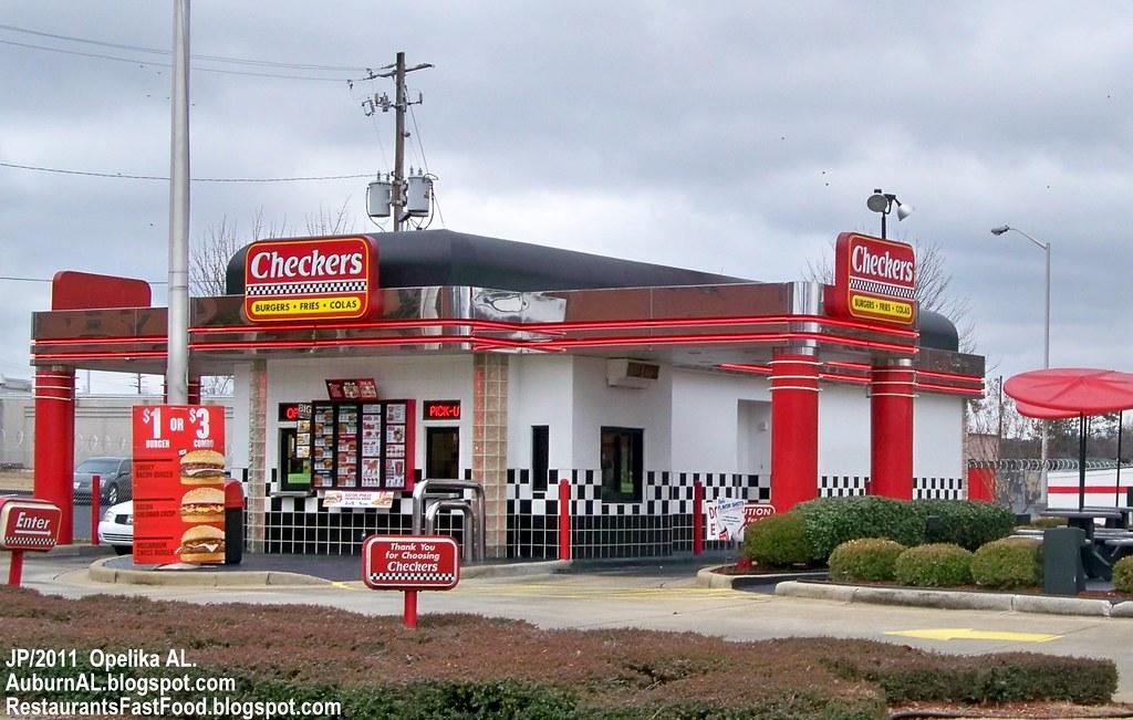 Checkers Opelika Alabama Checkers Hamburgers Fast Food Re Flickr