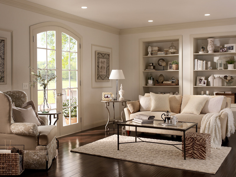 Casual living room walls cotton knit ul170 13 ceiling for Behr neutral beige paint colors