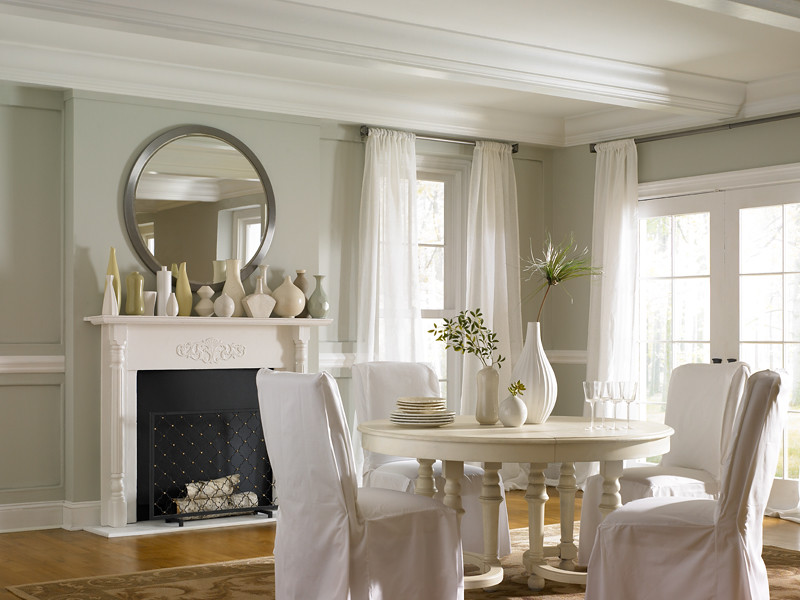 casual dining room by behr paint - Celadon Paint Color